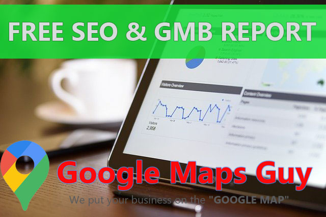 Free GMB and SEO Report for Google Map Rankings